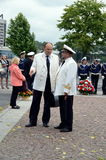 Dos capitanes de marina de guerra Foto de archivo