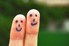 Dos caras sonrientes Imagen de archivo