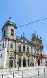 Dos Carmelitas de Igreja e igreja de Carmo em Porto, Portugal Imagem de Stock