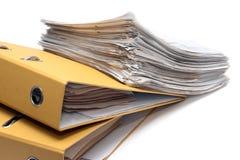 Dos carpetas y paquetes de documentos Fotografía de archivo libre de regalías