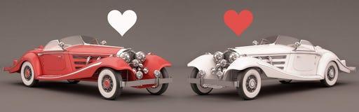 Dos carros com amor Imagem de Stock Royalty Free