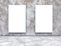 Dos carteles en blanco en el muro de cemento ilustración del vector