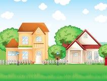 Dos casas grandes ilustración del vector
