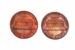 Dos centavos Imágenes de archivo libres de regalías