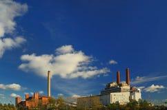 Dos centrales eléctricas Imágenes de archivo libres de regalías