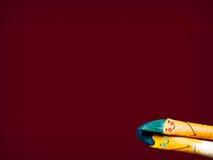 Dos cepillos coloreados con sueño y el sueño de la sonrisa foto de archivo libre de regalías