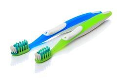 Dos cepillos de dientes Imagen de archivo libre de regalías