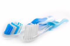 Dos cepillos de dientes Imagen de archivo