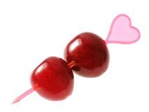 Dos cerezas. Amor. Fotos de archivo libres de regalías