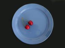 Dos cerezas dulces Imagenes de archivo
