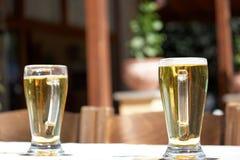 Dos cervezas Fotografía de archivo libre de regalías