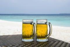 Dos cervezas Fotos de archivo libres de regalías