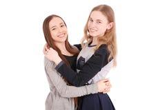 Dos chicas jóvenes hermosas Fotografía de archivo