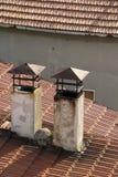 Dos chimeneas Foto de archivo libre de regalías