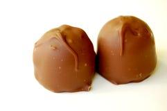 Dos chocolates Foto de archivo libre de regalías