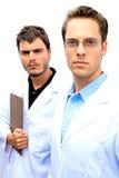Dos científicos que trabajan junto Fotografía de archivo libre de regalías