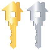Dos claves para el hogar Fotografía de archivo libre de regalías