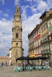 DOS Clerigos di Torre a Oporto, Portogallo Fotografie Stock Libere da Diritti