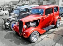 Dos coches modificados para requisitos particulares vintage del vado Imágenes de archivo libres de regalías