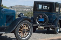 Dos coches viejos Fotografía de archivo libre de regalías