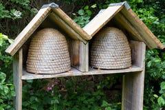 Dos colmenas vacías de la abeja Imagen de archivo
