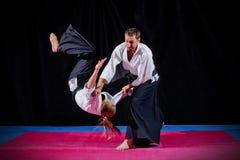 Dos combatientes de los artes marciales Imagen de archivo libre de regalías