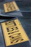 Dos compartimientos de reciclaje Foto de archivo libre de regalías
