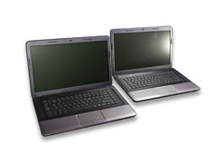 Dos computadoras portátiles Imagenes de archivo