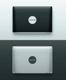 Dos computadoras portátiles Imagen de archivo libre de regalías