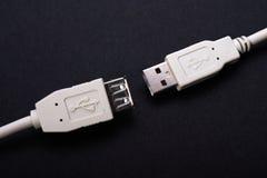 Dos conectores del USB Imagen de archivo libre de regalías