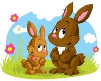 Dos conejos ilustración del vector