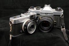 Dos contadores de tiempo viejos Foto de archivo