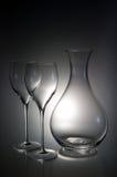 Dos copas con una jarra Imágenes de archivo libres de regalías