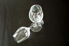 Dos copas de vino Imagen de archivo libre de regalías