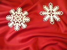 Dos copos de nieve blancos Foto de archivo libre de regalías