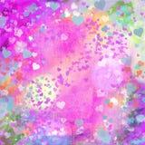 Dos corações pasteis do grunge do dia de Valentim backg abstrato ilustração stock