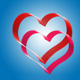 Dos corazones. Foto de archivo libre de regalías