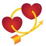 Dos corazones Fotografía de archivo