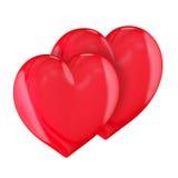 Dos corazones Fotos de archivo libres de regalías