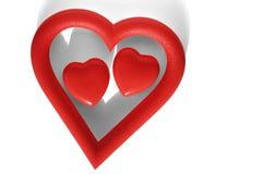 Dos corazones Imagenes de archivo