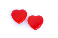 Dos corazones Foto de archivo libre de regalías