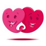 Dos corazones Imagen de archivo