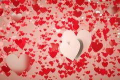 Dos corazones fotos de archivo