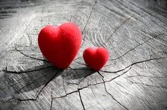 Dos corazones Imágenes de archivo libres de regalías