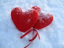 Dos corazones fotografía de archivo libre de regalías