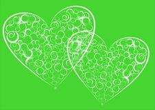 Dos corazones abstractos. Foto de archivo