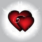 Dos corazones ardientes Imagen de archivo
