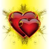 Dos corazones ardientes Foto de archivo