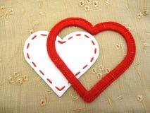 Dos corazones cariñosos Imagen de archivo libre de regalías
