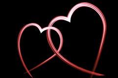 Dos corazones cariñosos fotografía de archivo libre de regalías